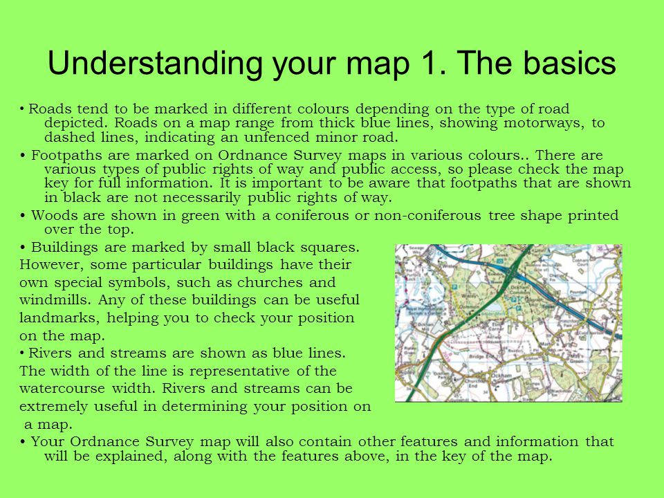 Understanding your map 1. The basics