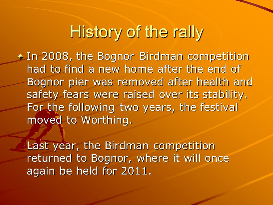 History of the rally