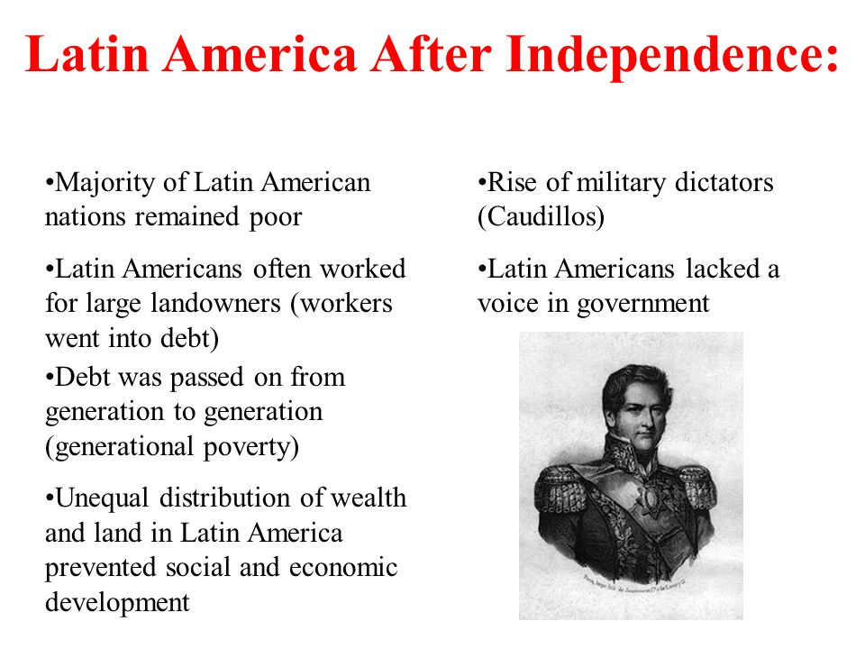 Latin America After Independence: