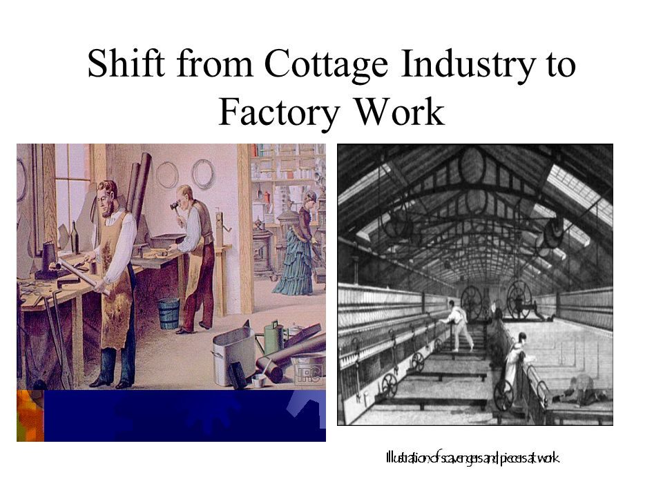Shift from Cottage Industry to Factory Work