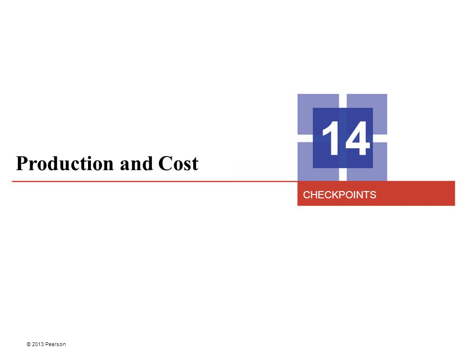 14 Production and Cost CHECKPOINTS 2