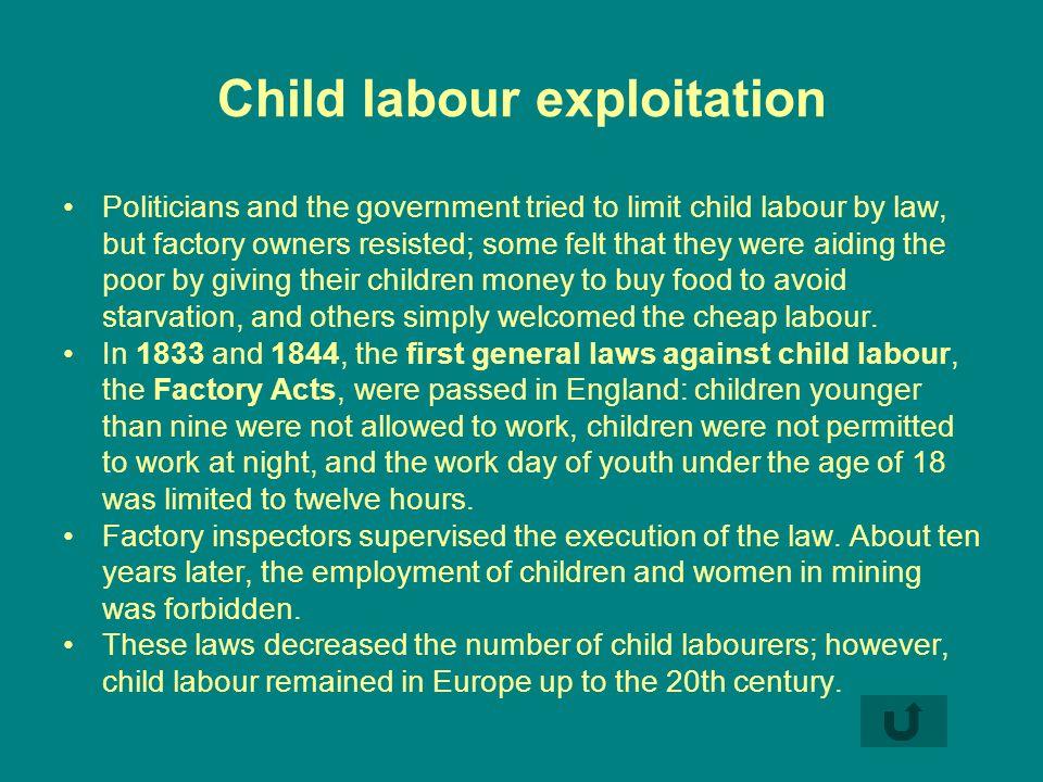 Child labour exploitation