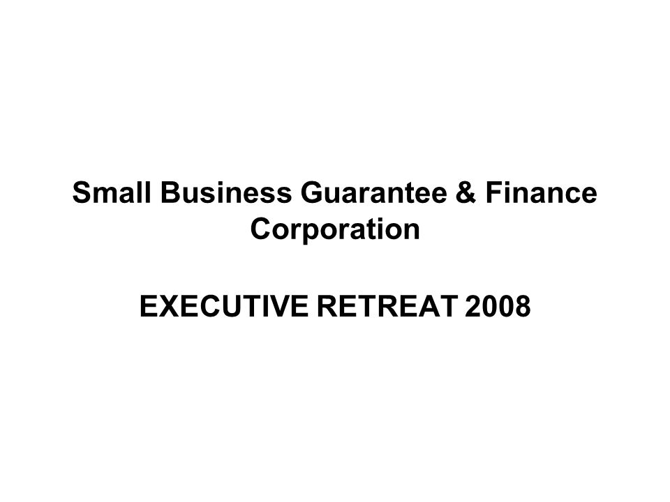 Small Business Guarantee & Finance Corporation