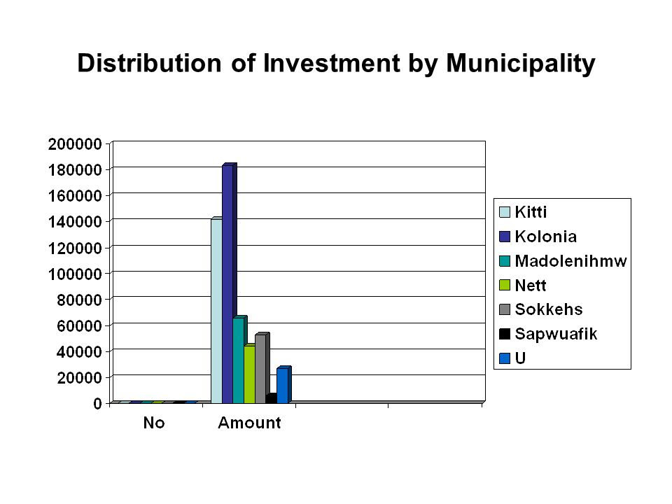 Distribution of Investment by Municipality