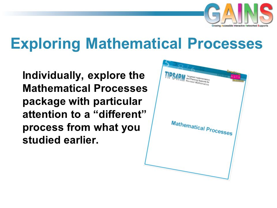Exploring Mathematical Processes