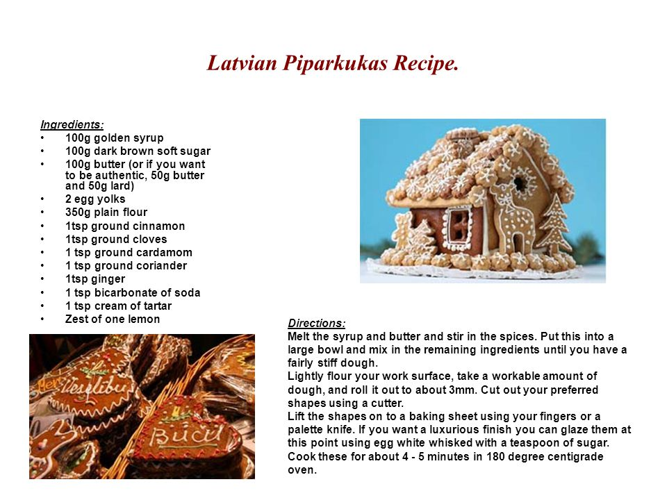 Latvian Piparkukas Recipe.