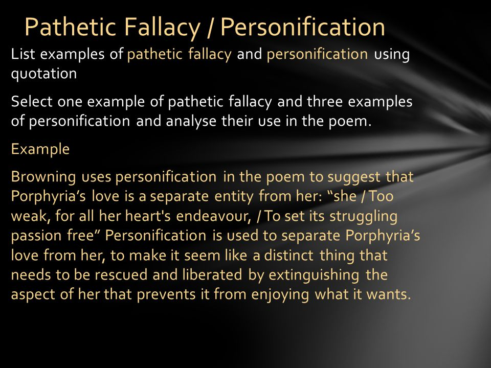Pathetic Fallacy / Personification