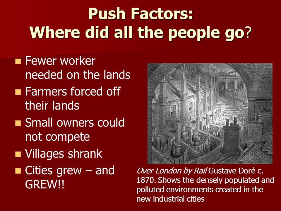 Push Factors: Where did all the people go