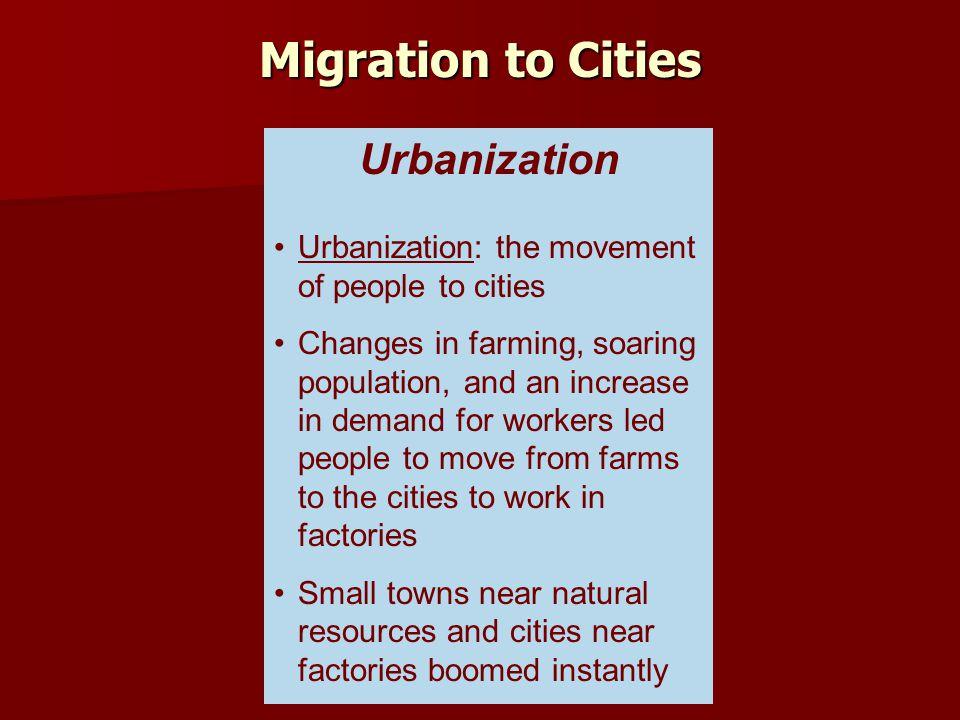 Migration to Cities Urbanization