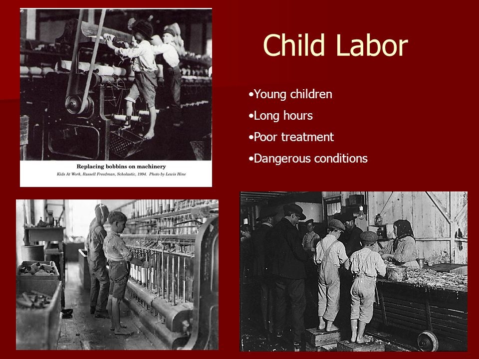 Child Labor Young children Long hours Poor treatment