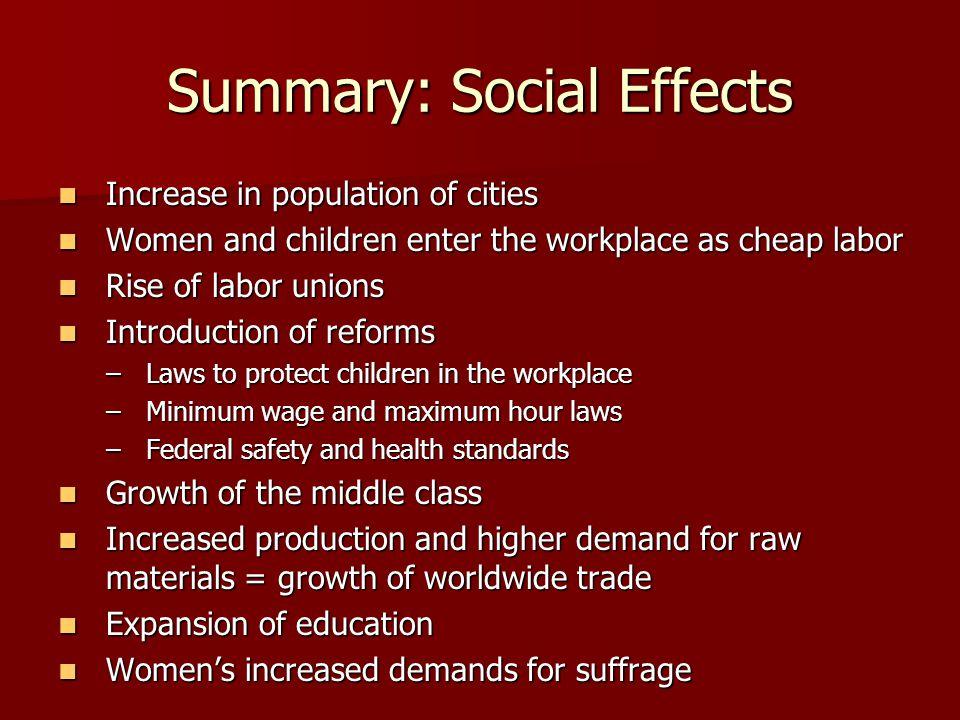 Summary: Social Effects