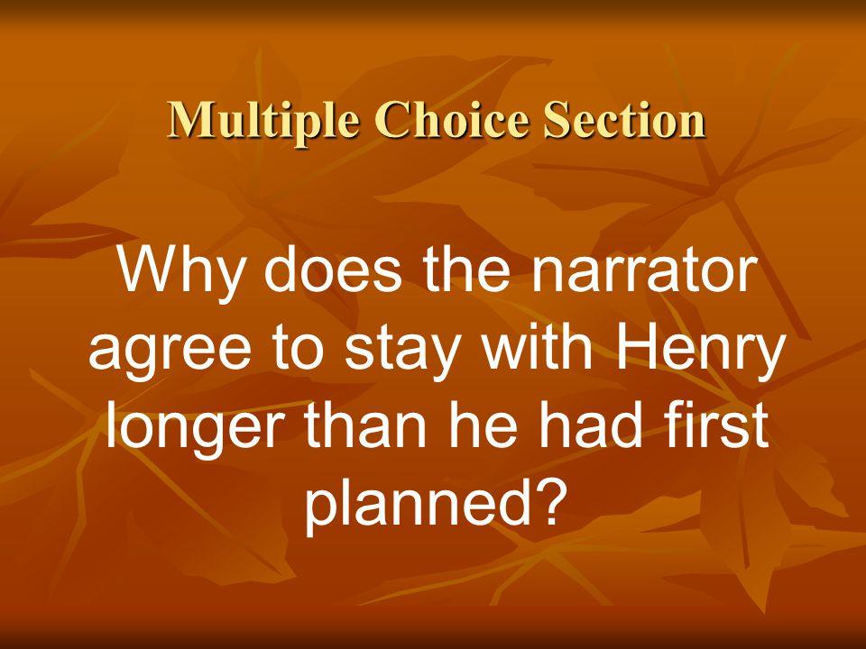 Multiple Choice Section