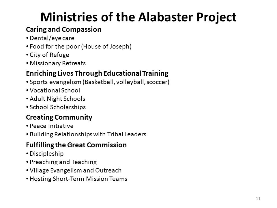 Ministries of the Alabaster Project