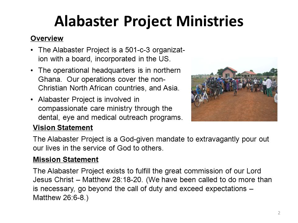 Alabaster Project Ministries