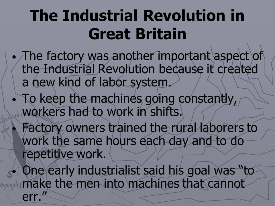 an analysis of industrial revolution in great britain