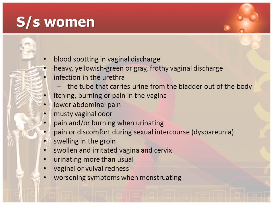 S/s women blood spotting in vaginal discharge