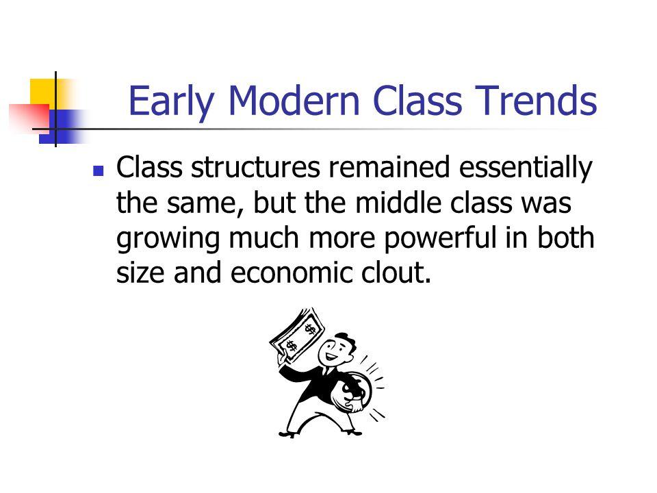 Early Modern Class Trends