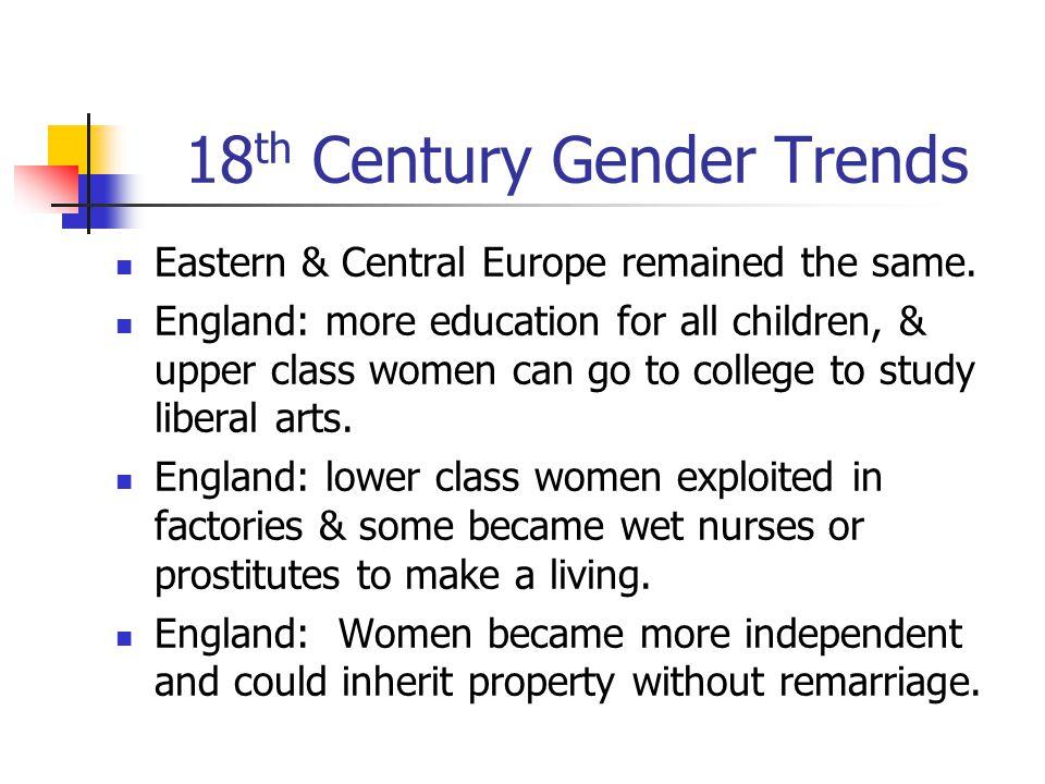 18th Century Gender Trends