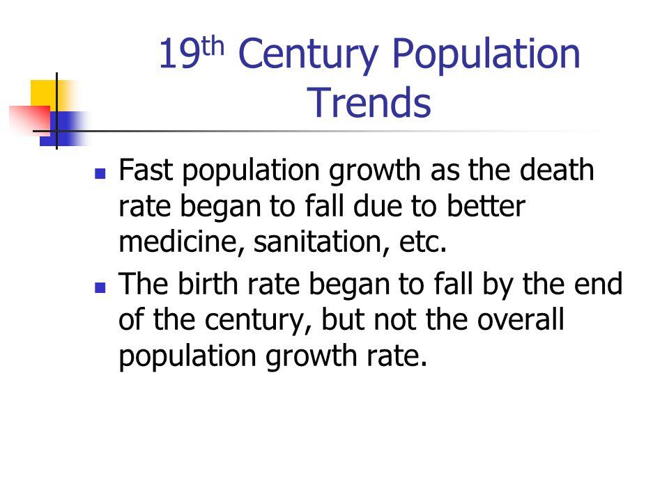 19th Century Population Trends