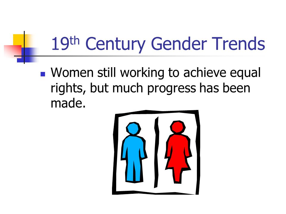 19th Century Gender Trends