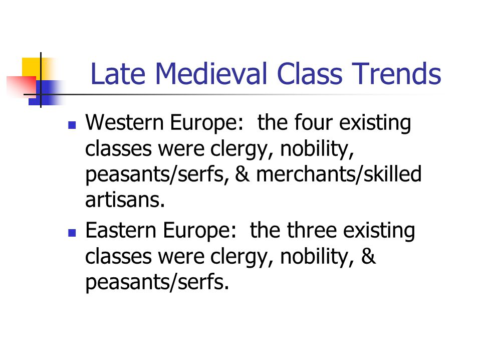 Late Medieval Class Trends