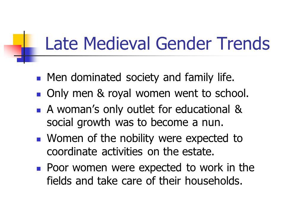 Late Medieval Gender Trends