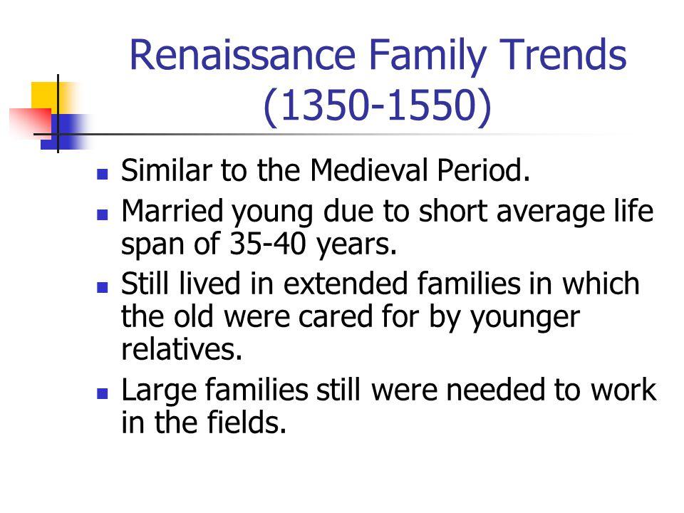 Renaissance Family Trends (1350-1550)