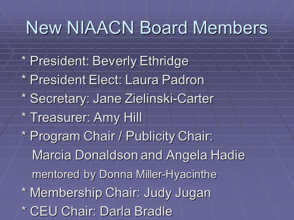 New NIAACN Board Members