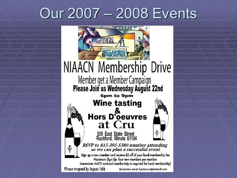 Our 2007 – 2008 Events