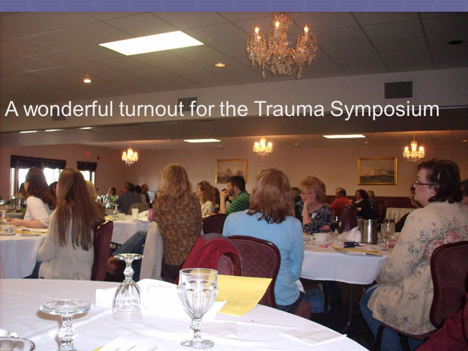 A wonderful turnout for the Trauma Symposium