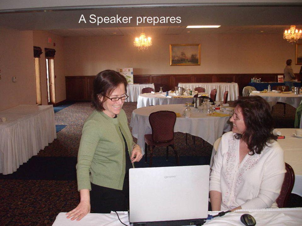 A Speaker prepares