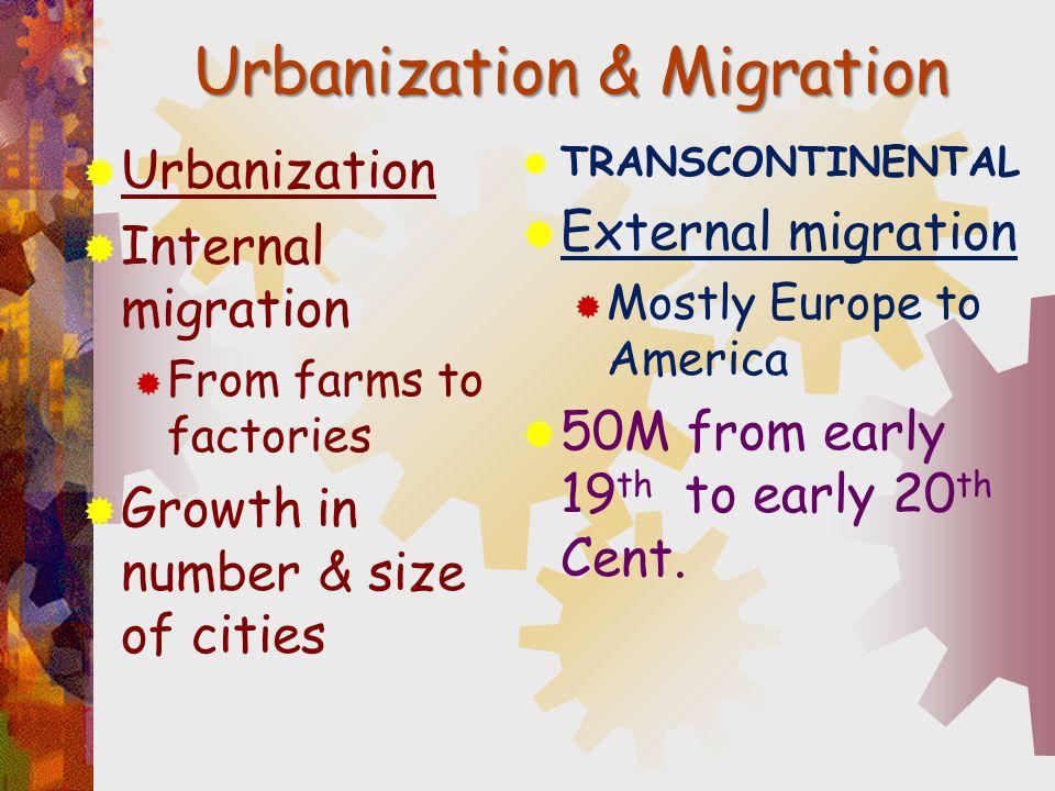 Urbanization & Migration