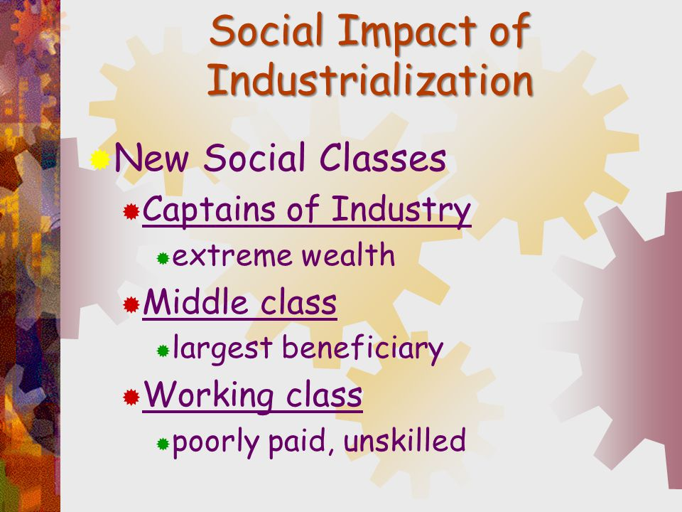 Social Impact of Industrialization