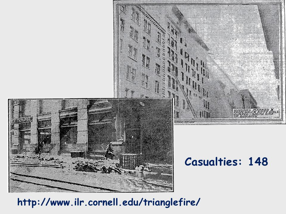 Casualties: 148 http://www.ilr.cornell.edu/trianglefire/