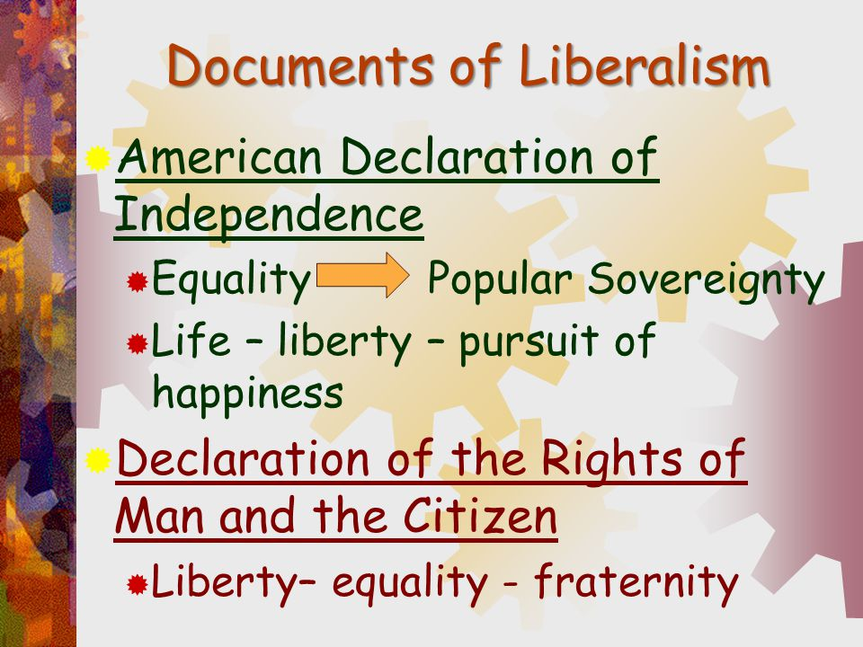 Documents of Liberalism