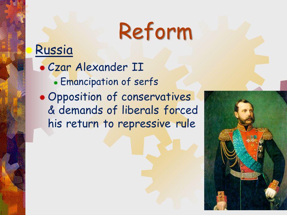 Reform Russia Czar Alexander II