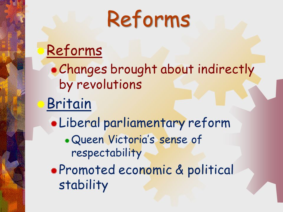 Reforms Reforms Britain