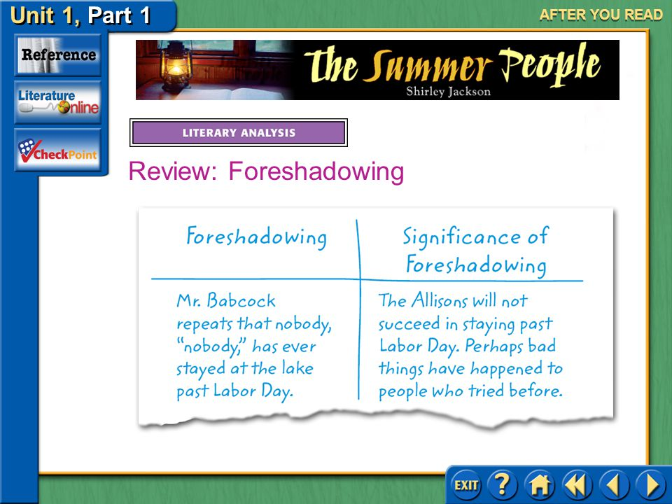 Review: Foreshadowing