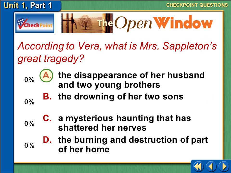 According to Vera, what is Mrs. Sappleton's great tragedy