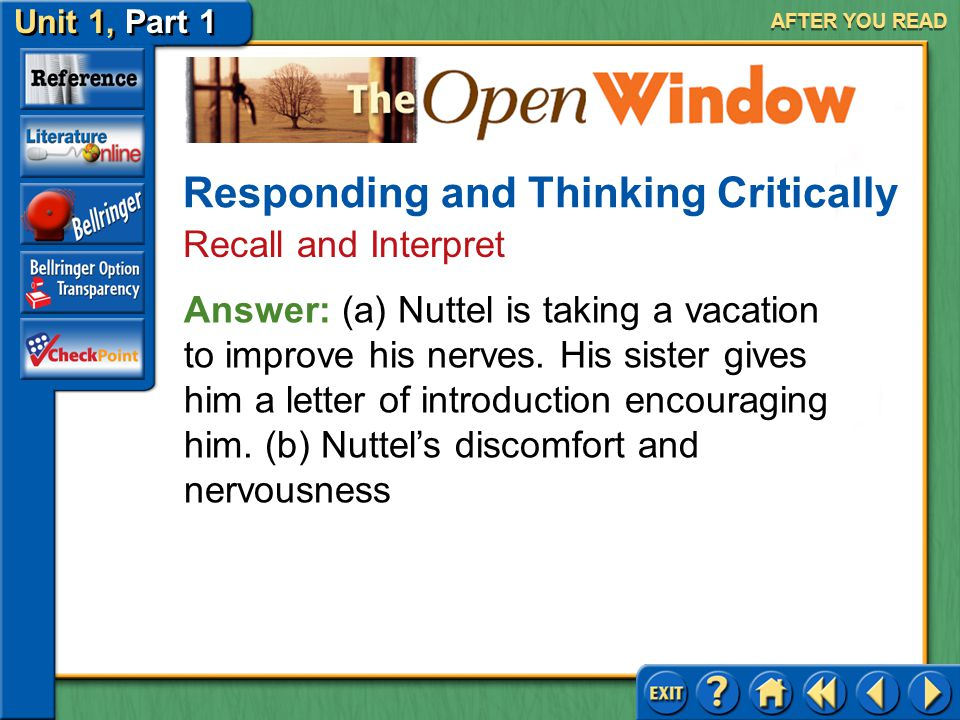 Responding and Thinking Critically