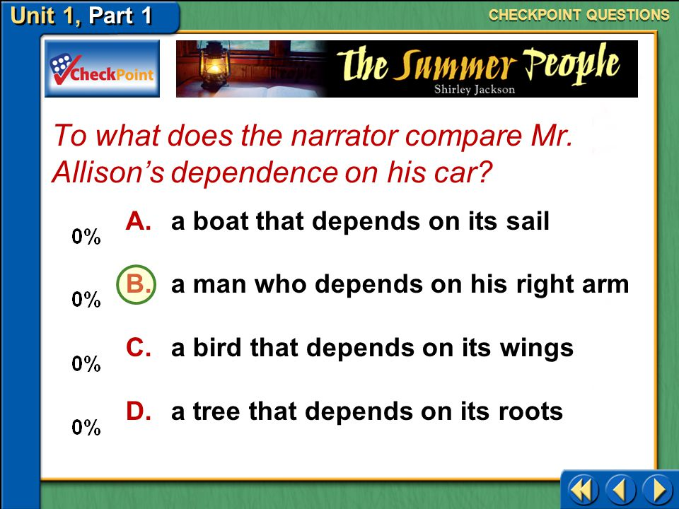 To what does the narrator compare Mr. Allison's dependence on his car