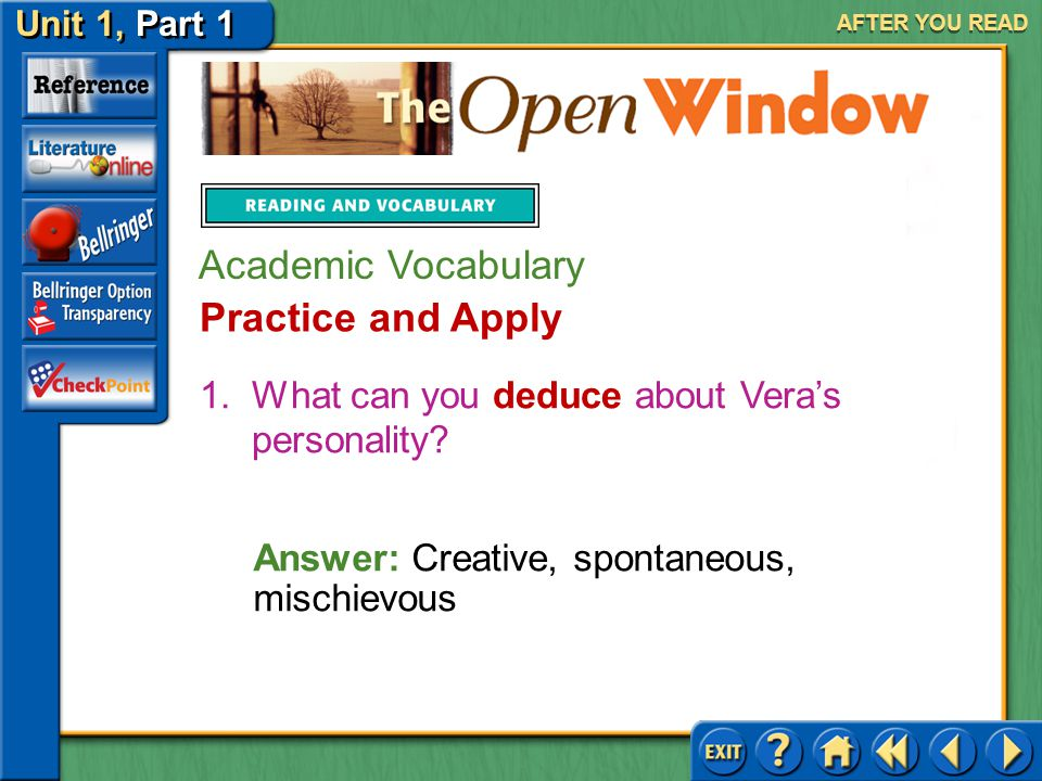 Academic Vocabulary Practice and Apply