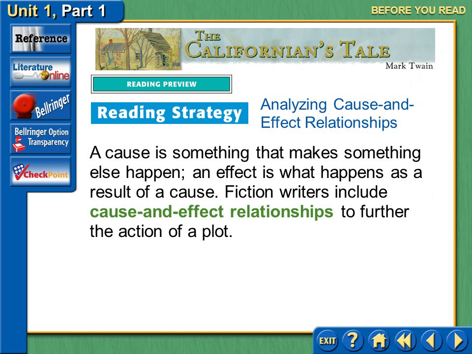 BEFORE YOU READ Analyzing Cause-and-Effect Relationships.