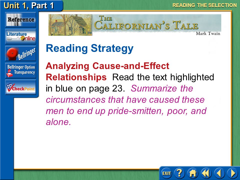 READING THE SELECTION Reading Strategy.