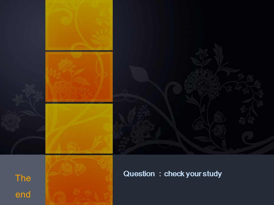Question :check your study