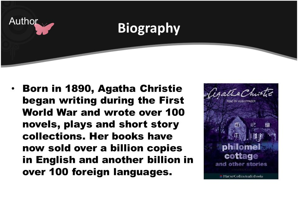 Biography Author.