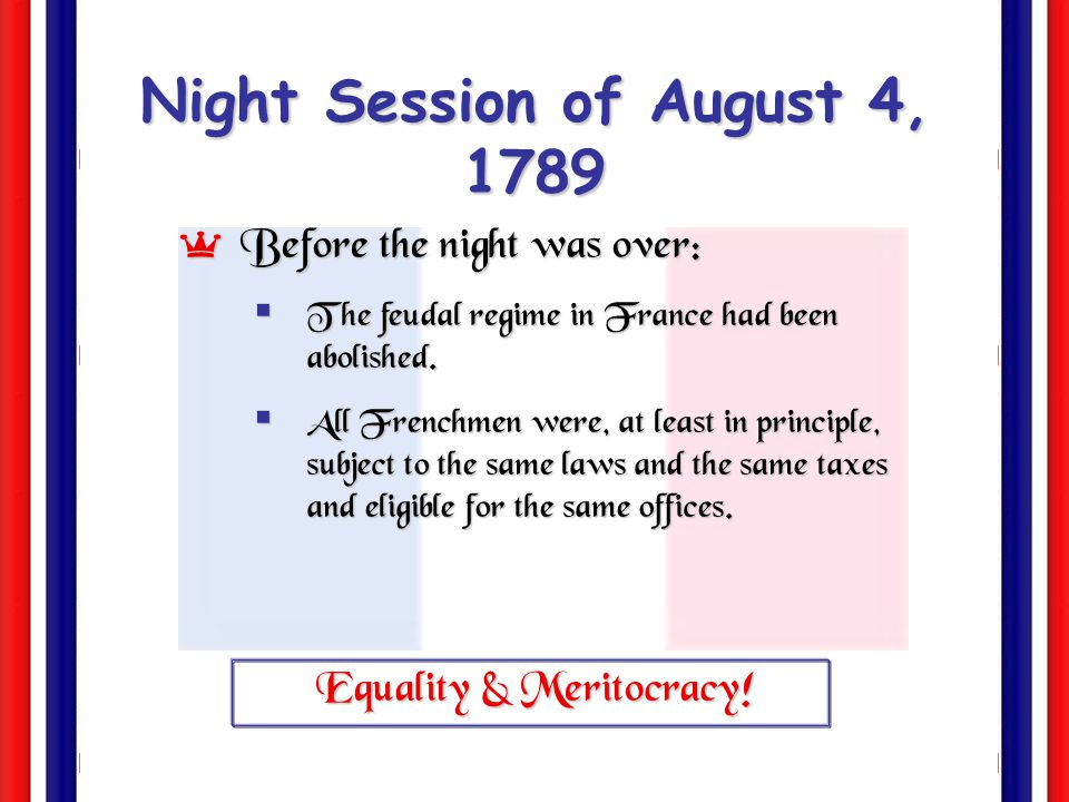 Night Session of August 4, 1789