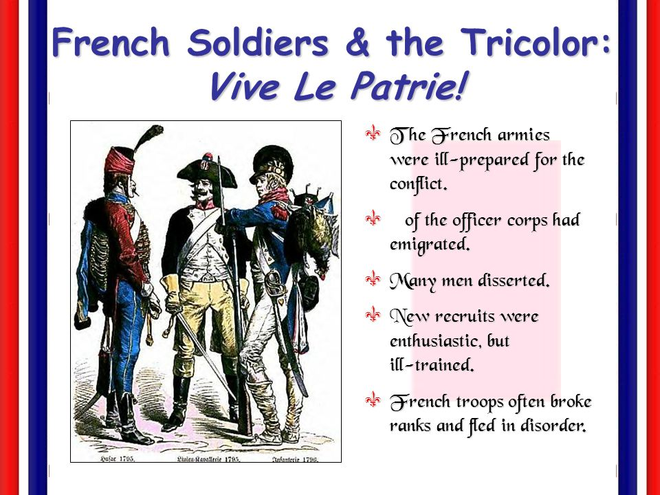 French Soldiers & the Tricolor: Vive Le Patrie!