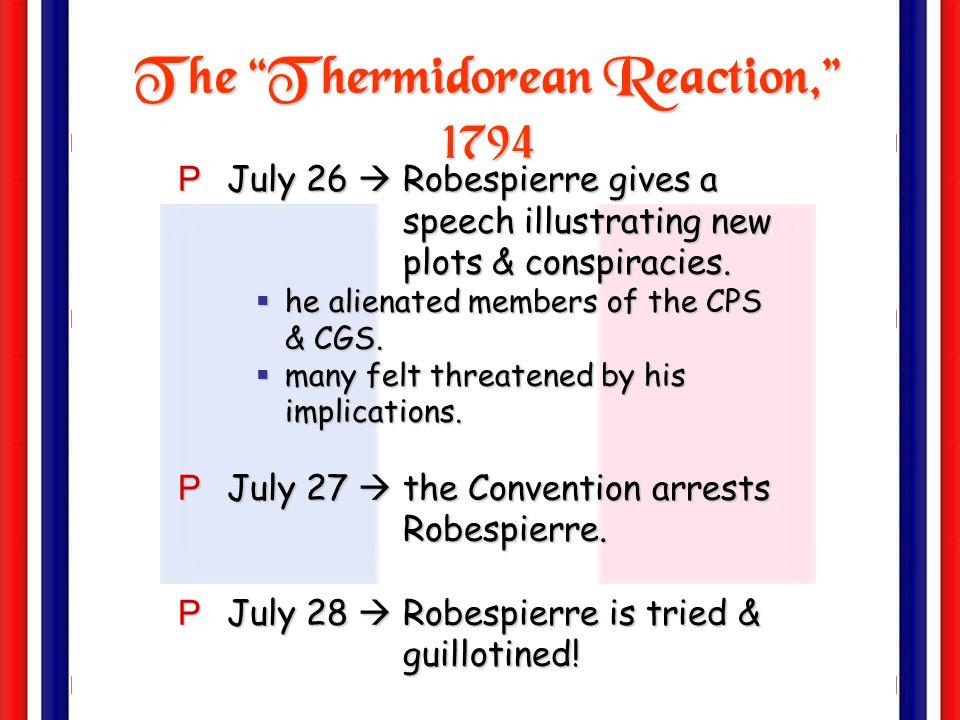 The Thermidorean Reaction, 1794