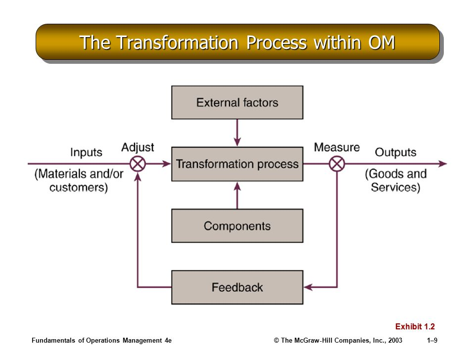 The Transformation Process within OM